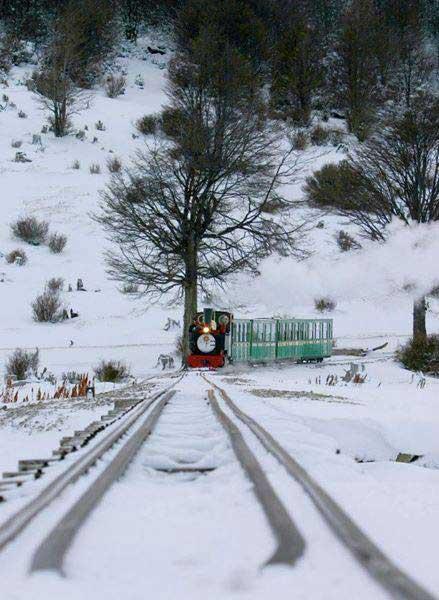 Invierno en el Tren del Fin del Mundo